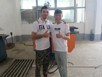 Client from Uzbekistan Come to Inspect DW100NC Tube Bending Machine