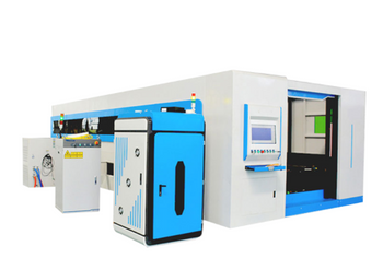 1000W 4000W 6000W Double Drive Closed Type Exchange Table Fiber Laser Cutting Machine