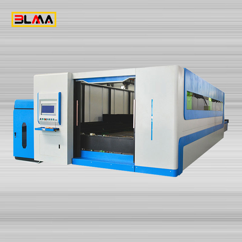 Double Drive Closed Type Exchange Table Fiber Laser Cutting Machine