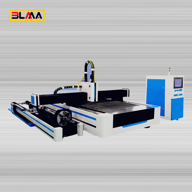 Metal Tube And Plate Fiber Laser Cutting Machine with Rotary Device